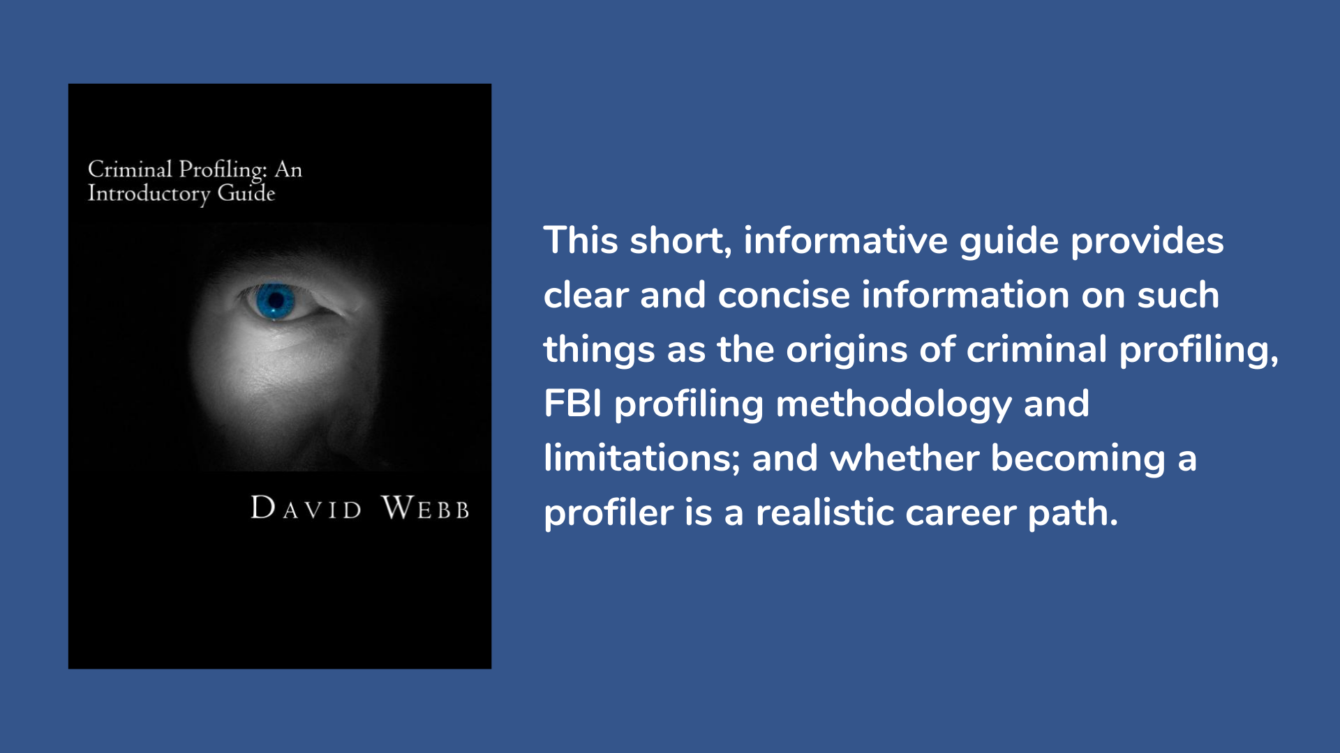 Criminal Profiling: An Introductory Guide Book Cover