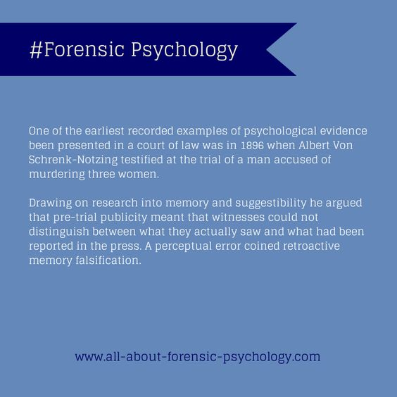 Forensic Psychology what to major in